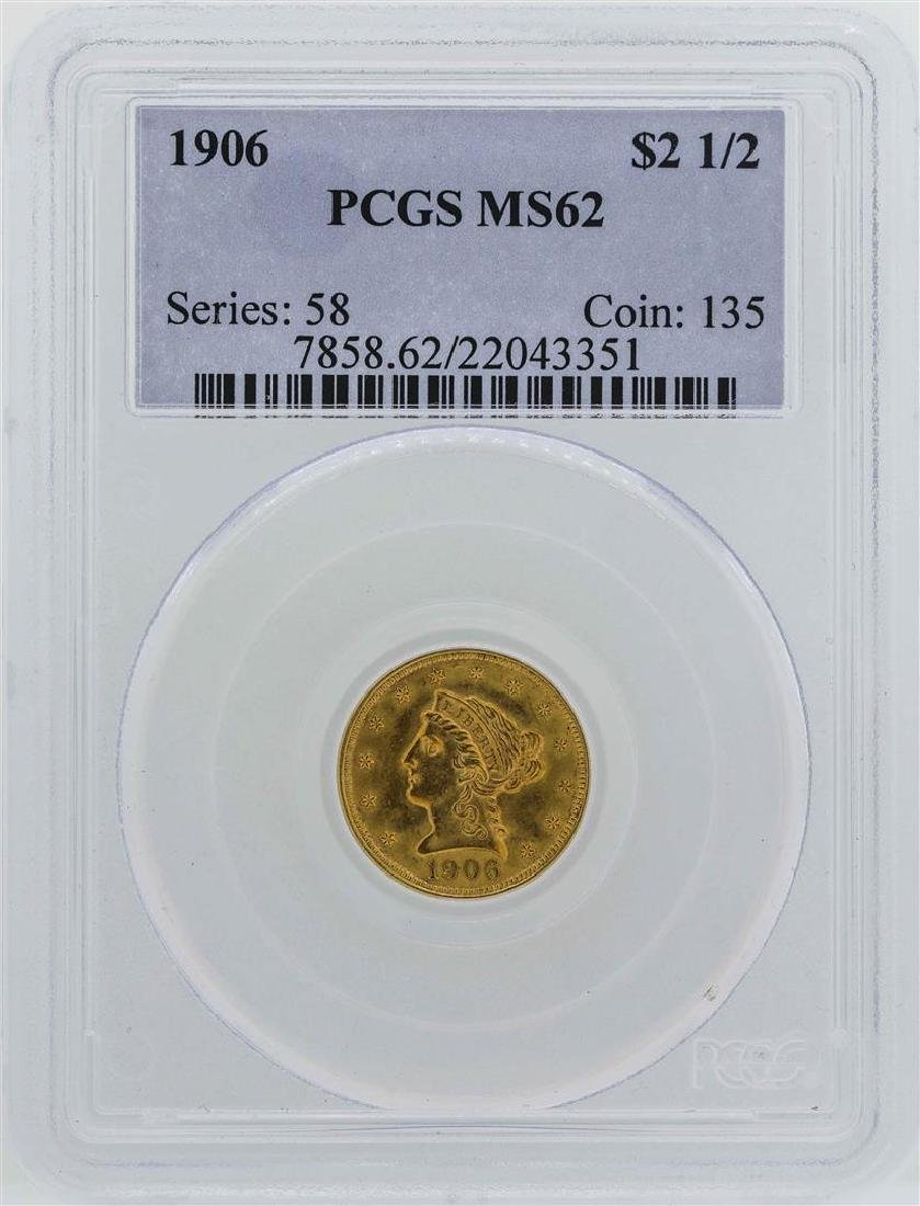 1906 $2 1/2 Liberty Head Quarter Eagle Gold Coin PCGS