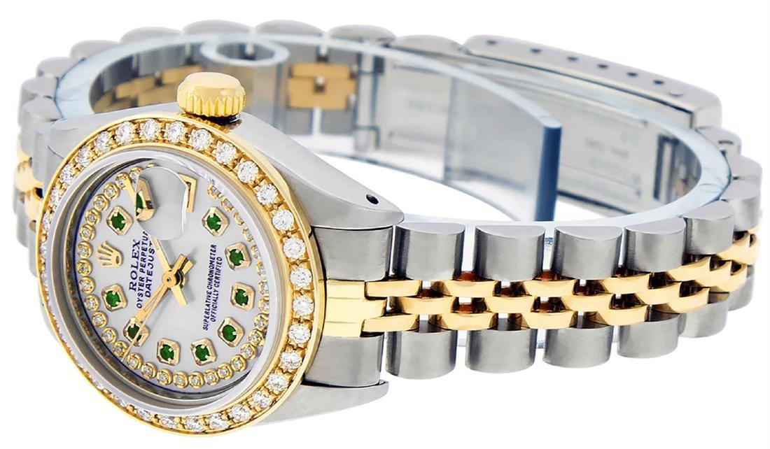 Rolex Ladies Two Tone 14K MOP Emerald String Diamond - 5