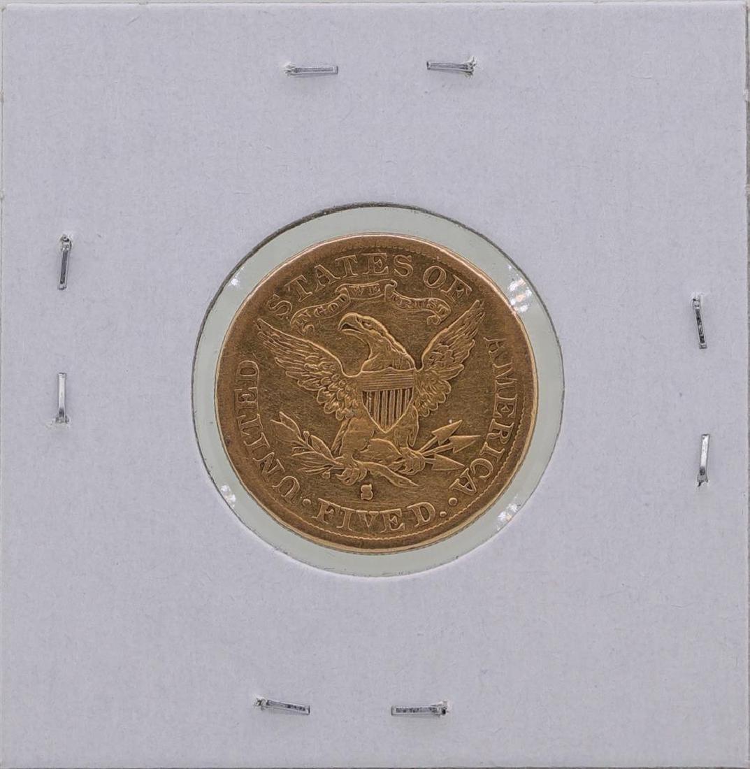 1886-S $5 Liberty Head Half Eagle Gold Coin - 2