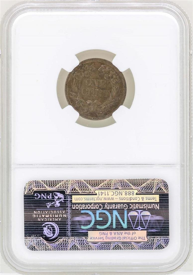 1857 Flying Eagle Cent Coin NGC MS63 - 2