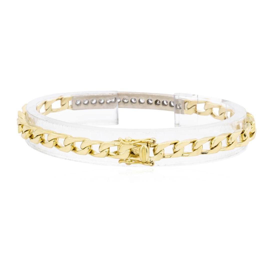 18KT Yellow and White Gold 1.00 ctw Diamond ID Bracelet - 2