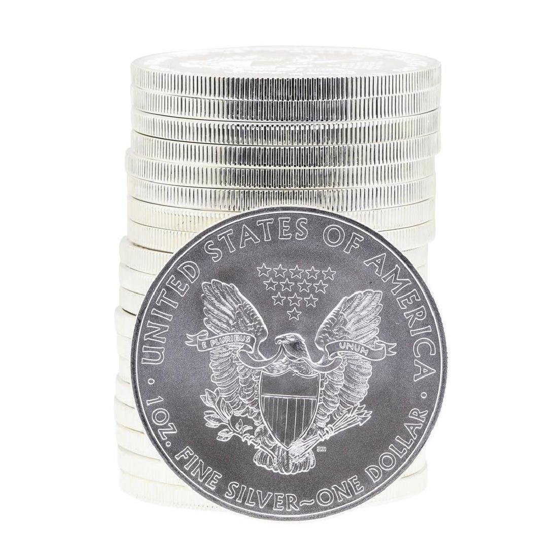 Roll of (20) 2008 $1 American Silver Eagle Brilliant - 2