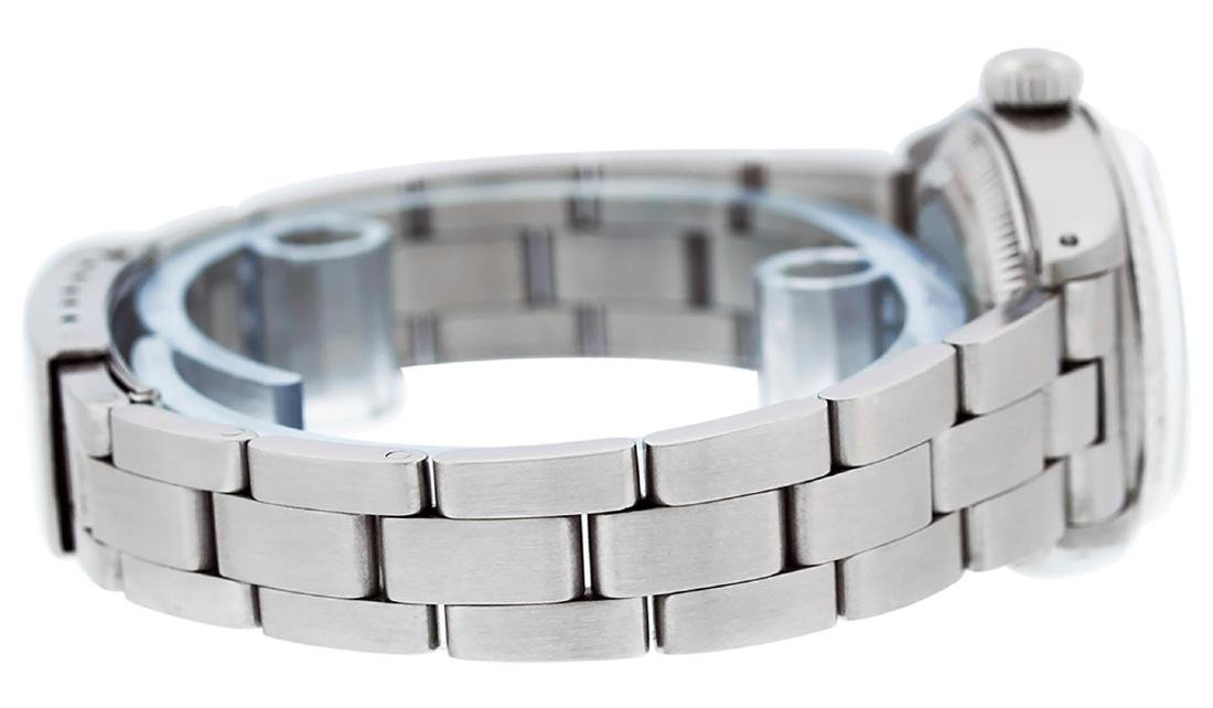 Rolex Ladies Stainless Steel Silver Index Oyster Band - 3