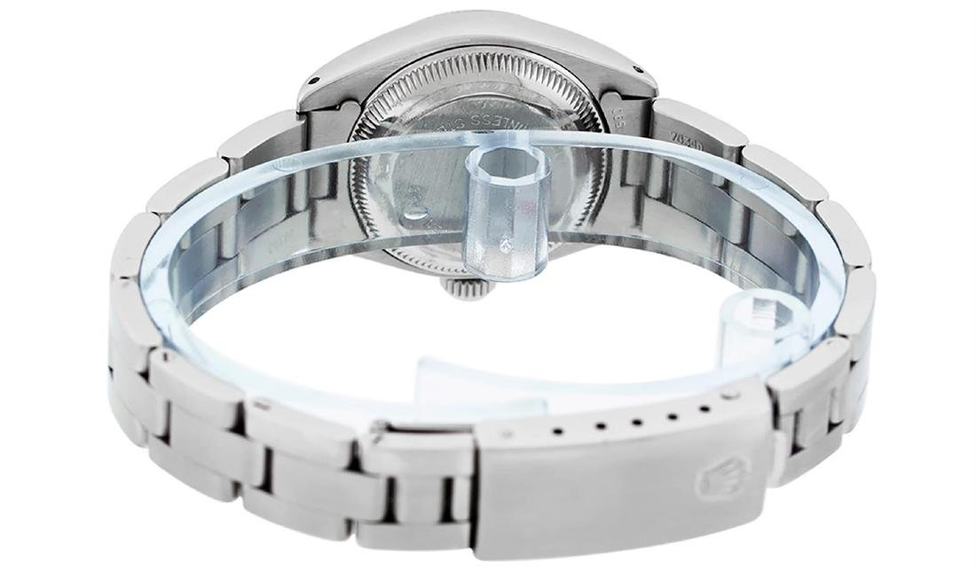 Rolex Ladies Stainless Steel Silver Index Oyster Band - 5