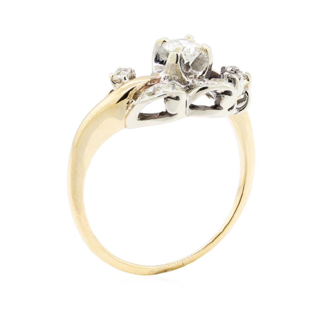14KT Yellow Gold 0.50 ctw Diamond Ring - 4