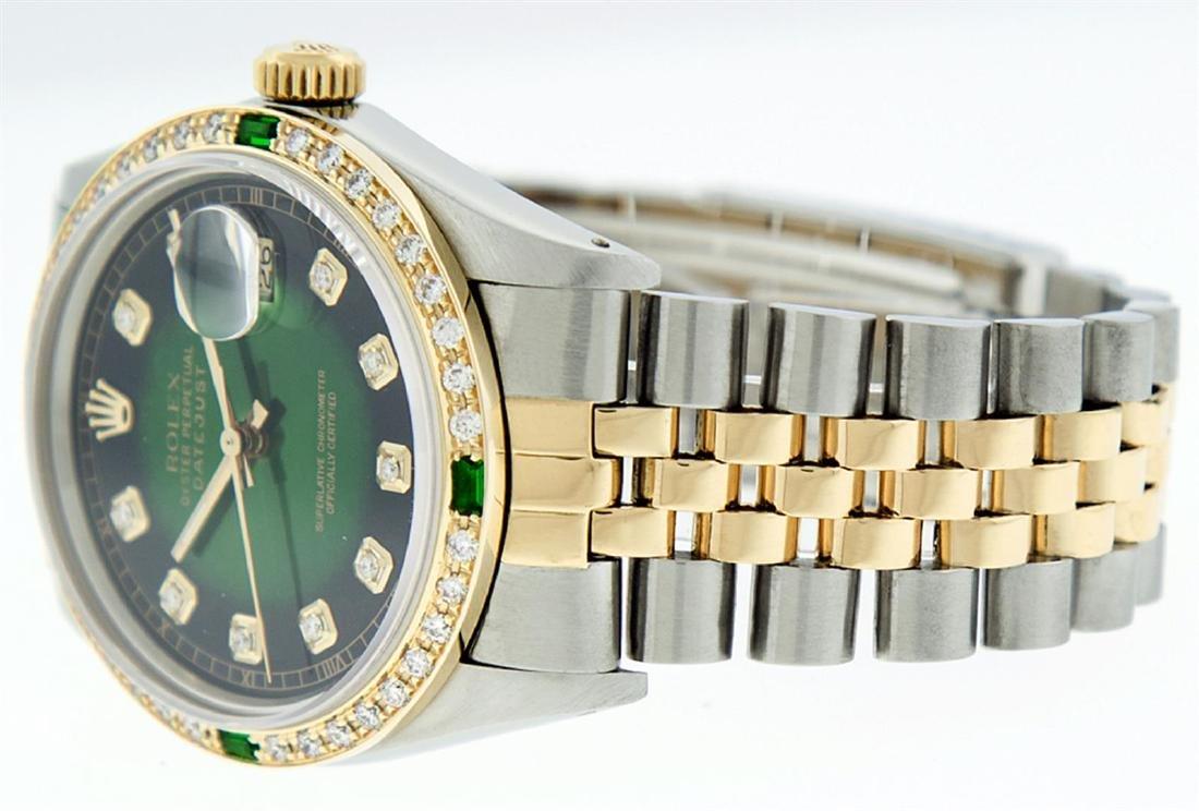 Rolex Men's Two Tone 14K Green Vignette Diamond & - 3