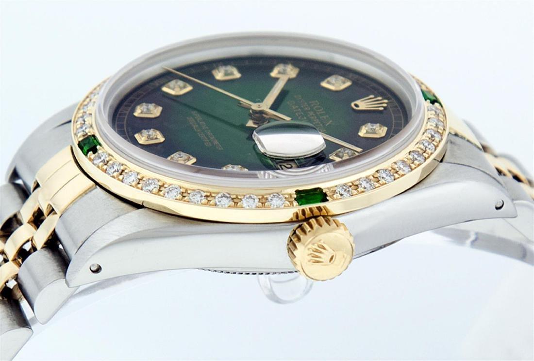 Rolex Men's Two Tone 14K Green Vignette Diamond & - 4