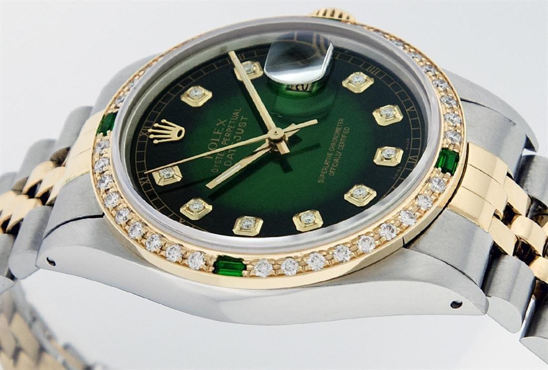 Rolex Men's Two Tone 14K Green Vignette Diamond & - 5
