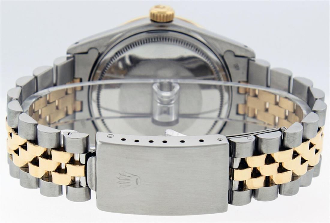 Rolex Men's Two Tone 14K Green Vignette Diamond & - 7