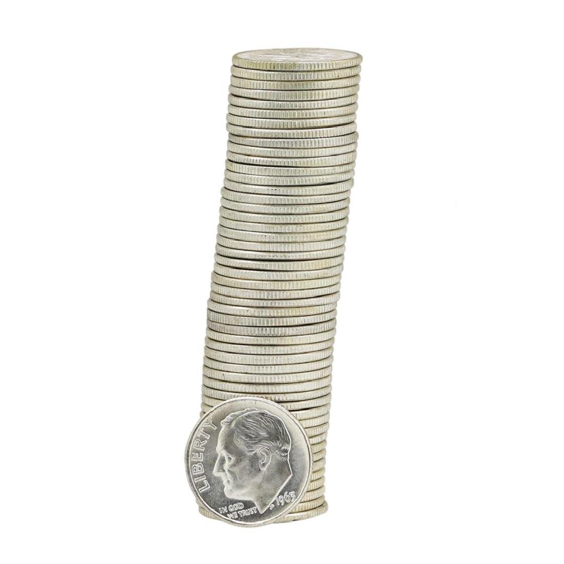 Roll of (50) 1963-D Brilliant Uncirculated Roosevelt