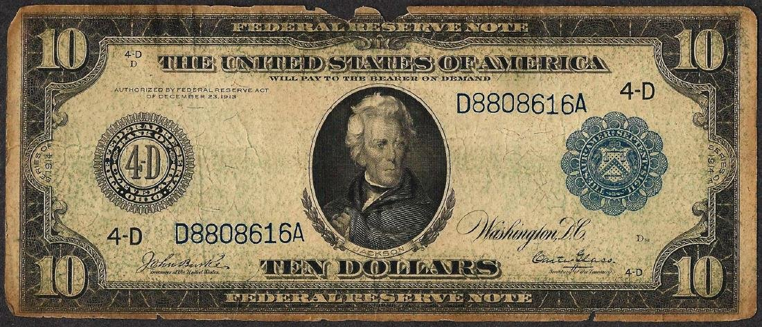 1914 $10 Federal Reserve Note Cleveland