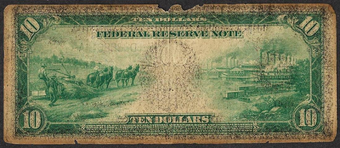 1914 $10 Federal Reserve Note Cleveland - 2