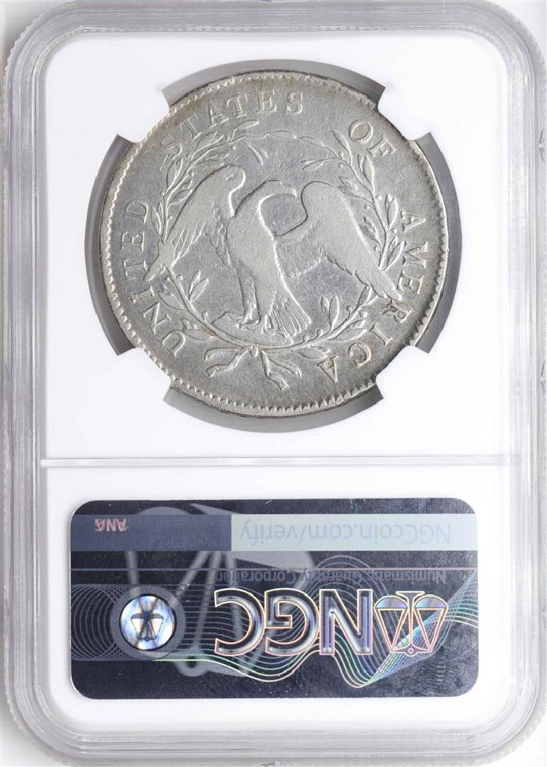 1795 $1 Flowing Hair Silver Dollar Coin NGC Fine - 2