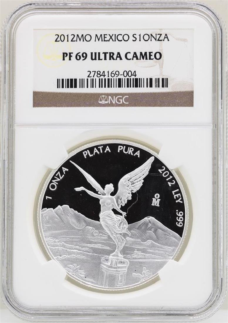 2012MO Mexico Onza Proof Silver Coin NGC PF69 Ultra