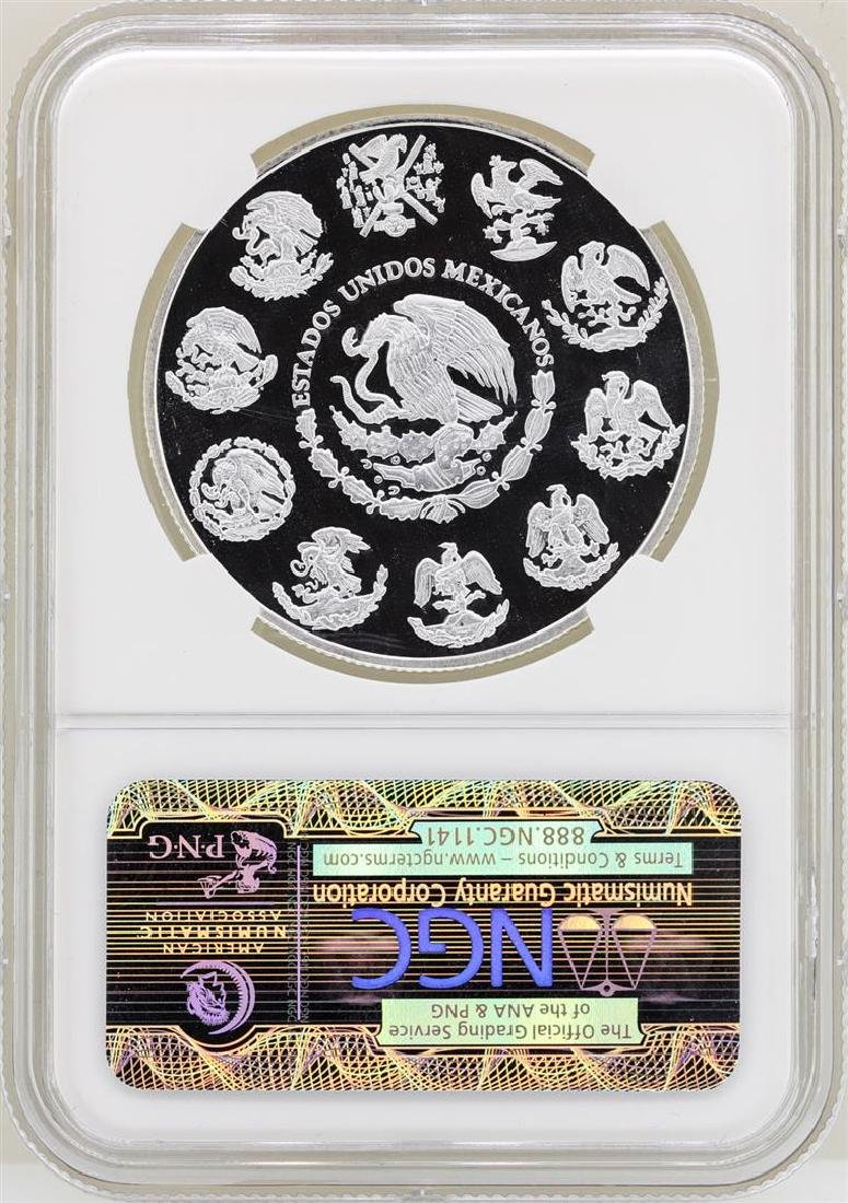 2012MO Mexico Onza Proof Silver Coin NGC PF69 Ultra - 2