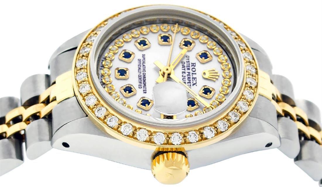 Rolex Ladies Two Tone 14K MOP Sapphire String Diamond - 3