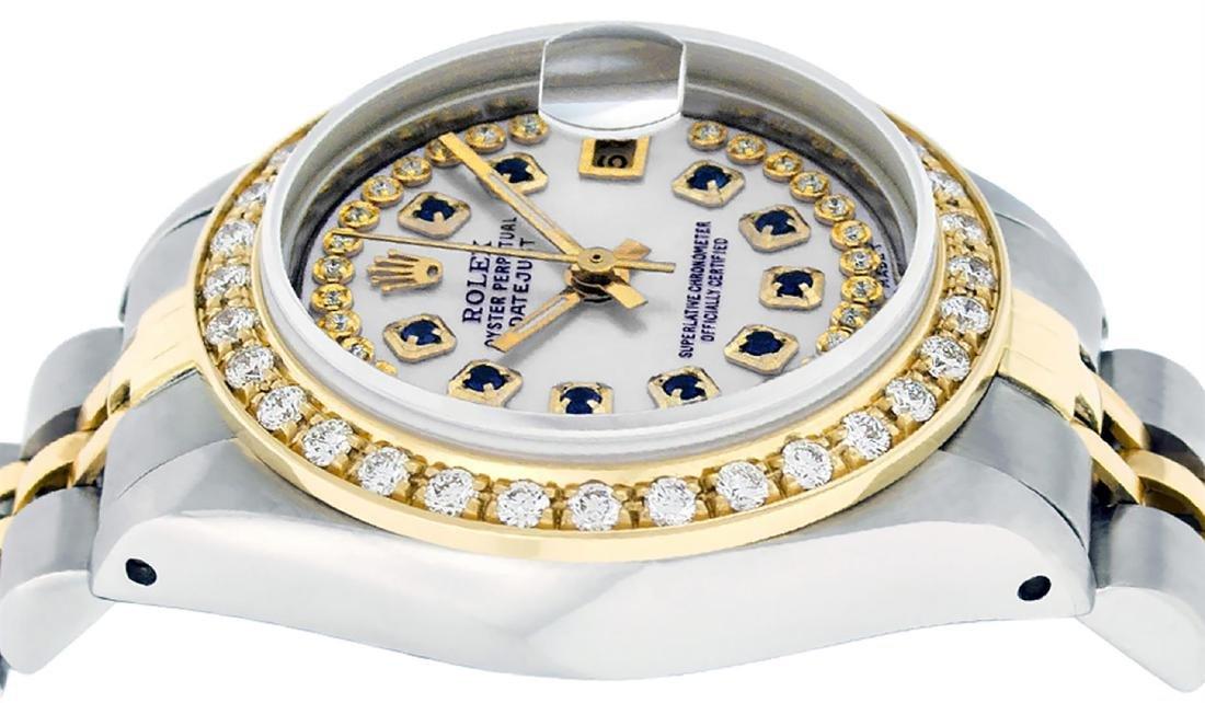 Rolex Ladies Two Tone 14K MOP Sapphire String Diamond - 4