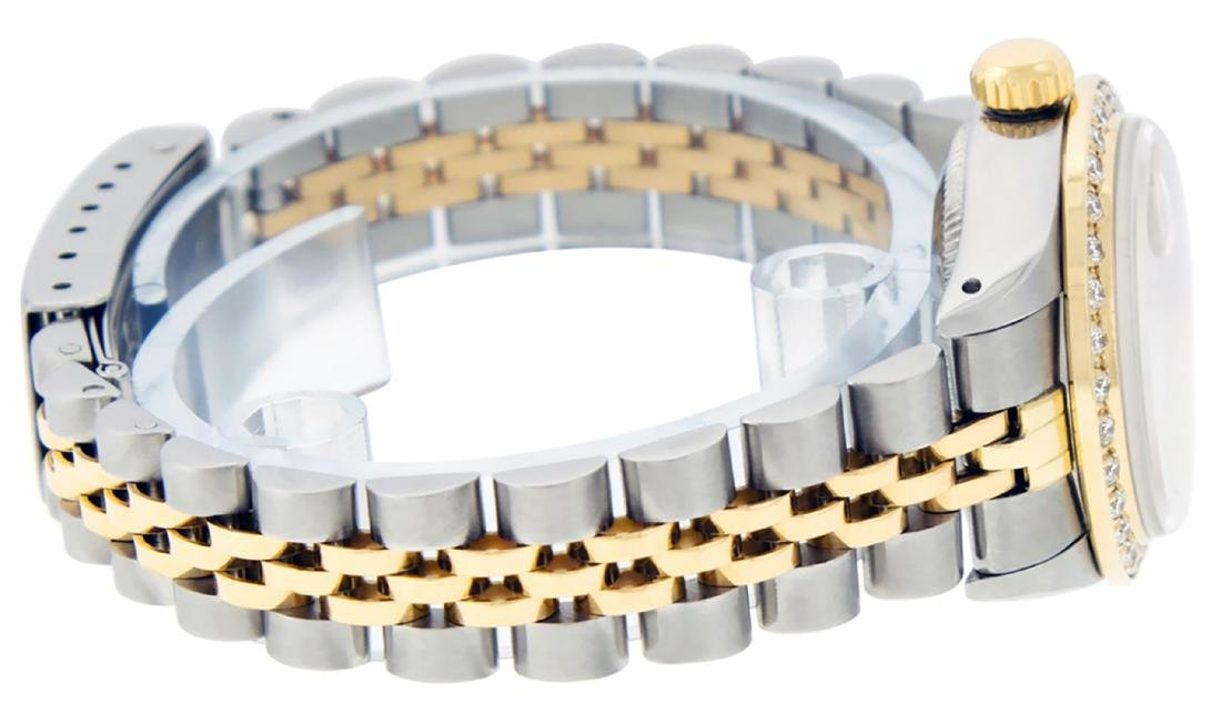 Rolex Ladies Two Tone 14K MOP Sapphire String Diamond - 8