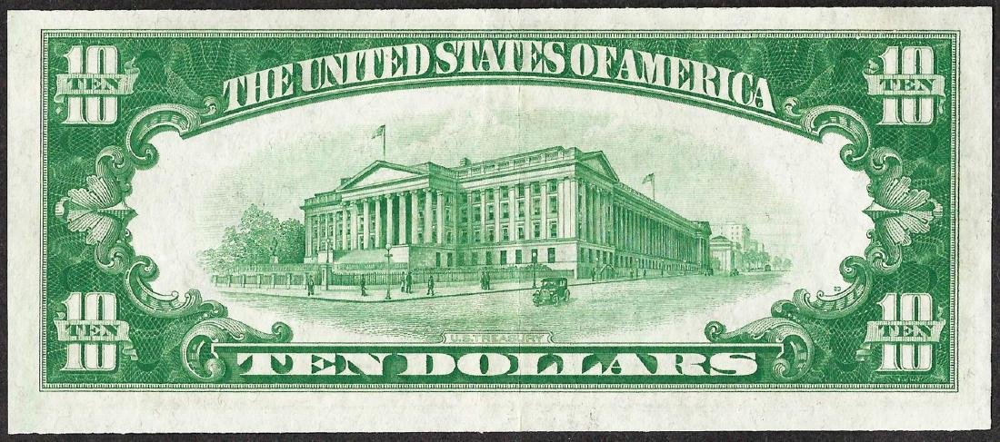 1928 $10 Federal Reserve Note Boston - 2