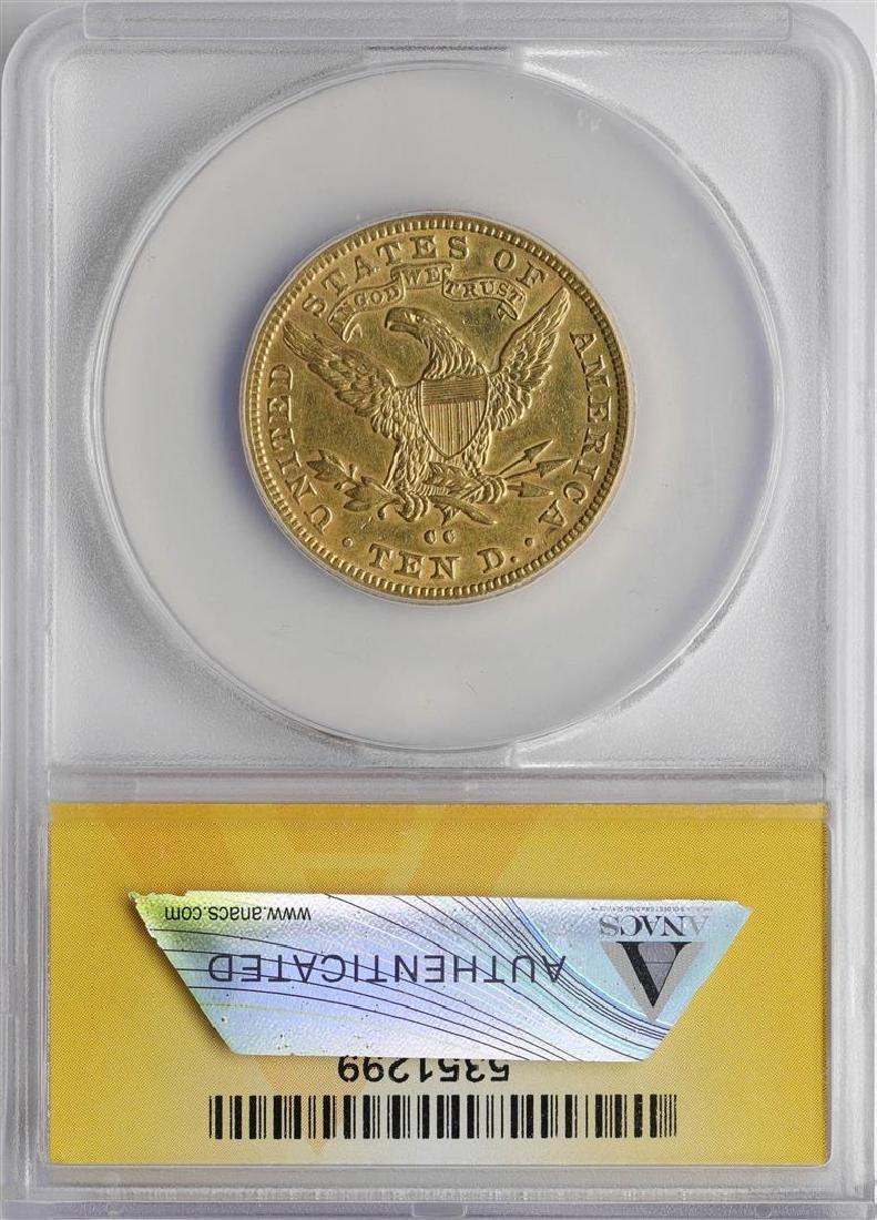 1892-CC $10 Liberty Head Half Eagle Gold Coin ANACS - 2