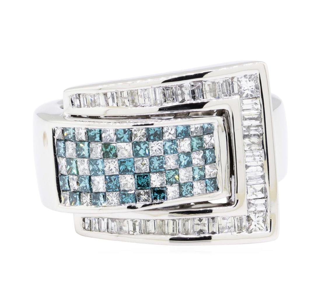 14KT White Gold 2.22 ctw Diamond Ring - 2