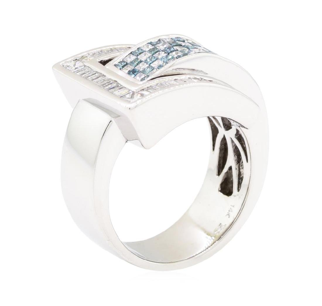 14KT White Gold 2.22 ctw Diamond Ring - 4
