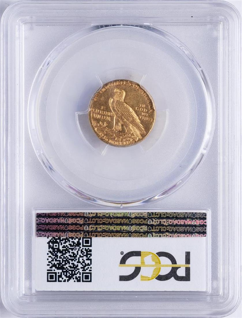 1925-D $2 1/2 Indian Head Quarter Eagle Gold Coin PCGS - 2