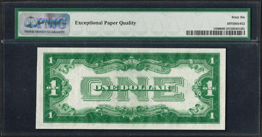 1928 $1 Funnyback Silver Certificate Note Fr.1600 PMG - 2