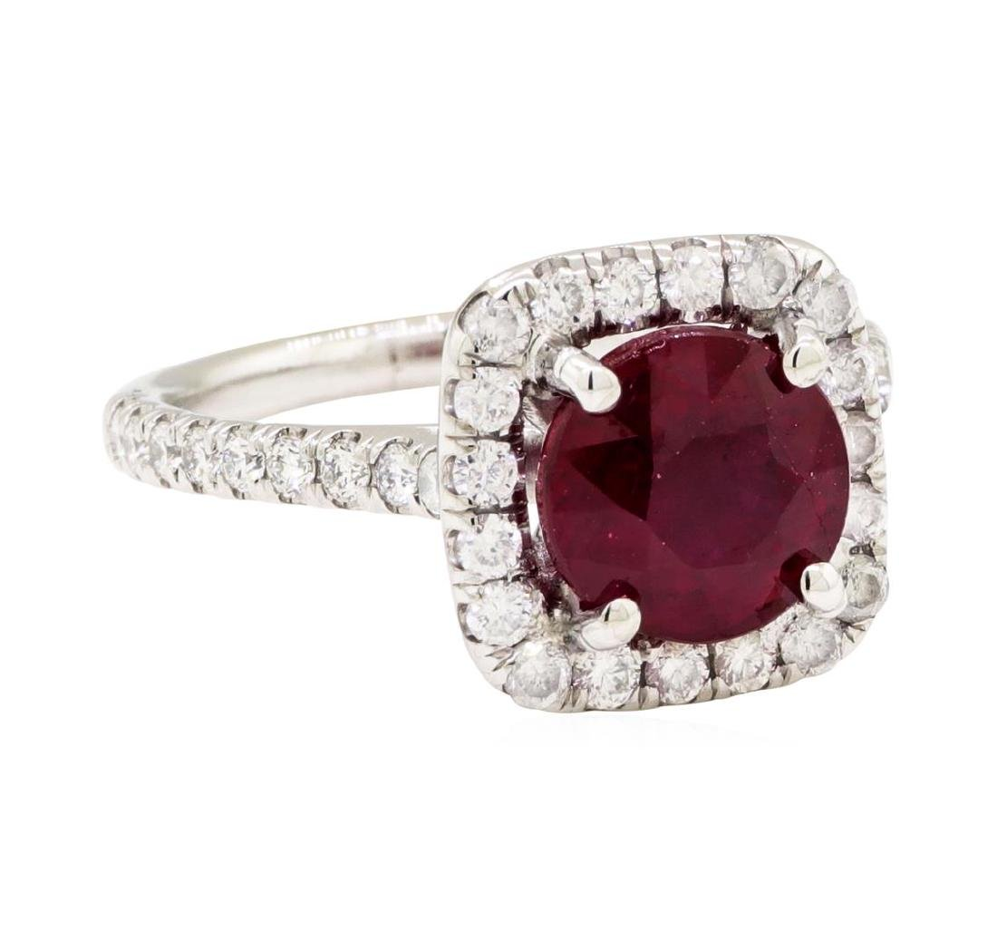 14KT White Gold 2.10 ctw Ruby and Diamond Ring