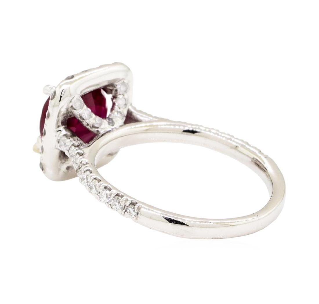 14KT White Gold 2.10 ctw Ruby and Diamond Ring - 3