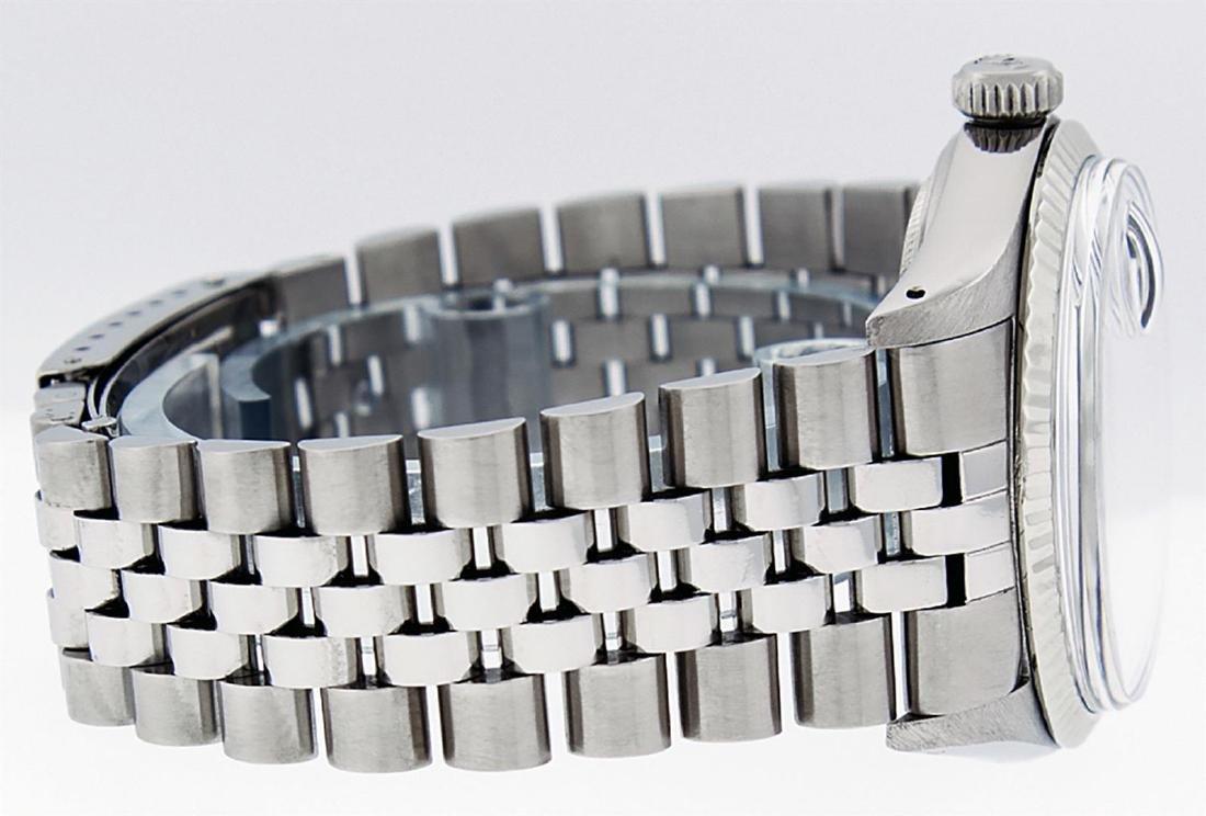 Rolex Men's Stainless Slate Grey Diamond 36MM Datejust - 3