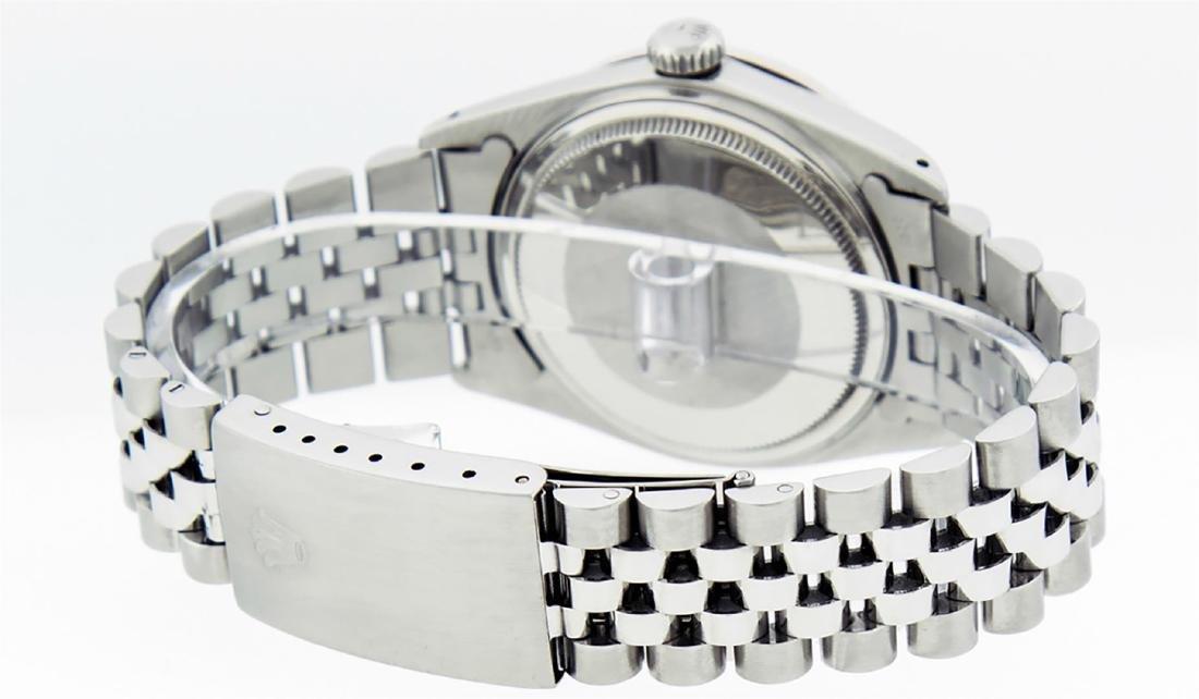 Rolex Men's Stainless Slate Grey Diamond 36MM Datejust - 4