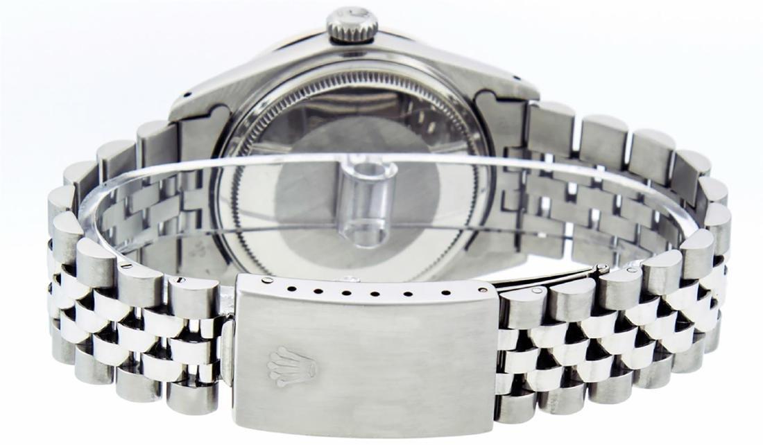 Rolex Men's Stainless Slate Grey Diamond 36MM Datejust - 5