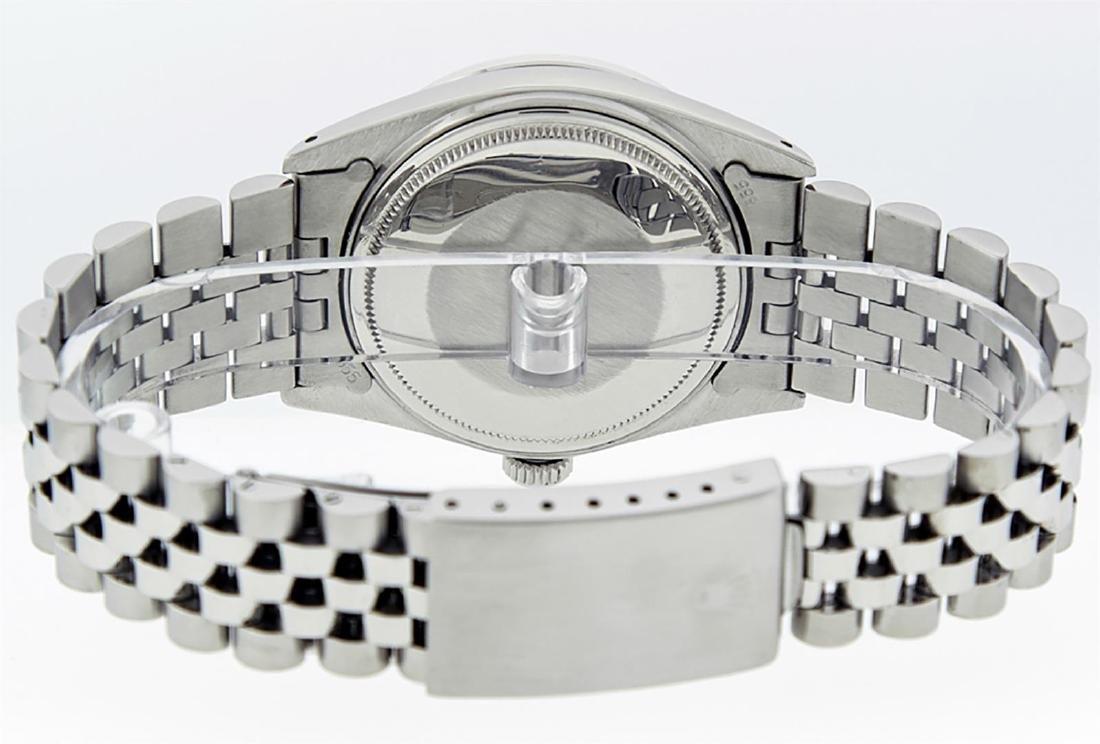 Rolex Men's Stainless Slate Grey Diamond 36MM Datejust - 6