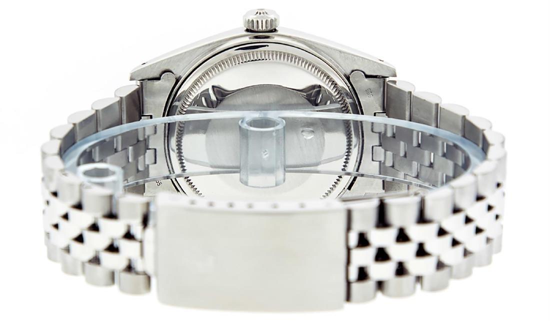 Rolex Men's Stainless Slate Grey Diamond 36MM Datejust - 7