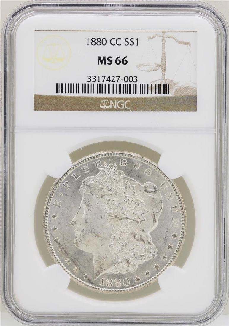 1880-CC $1 Morgan Silver Dollar Coin NGC MS66