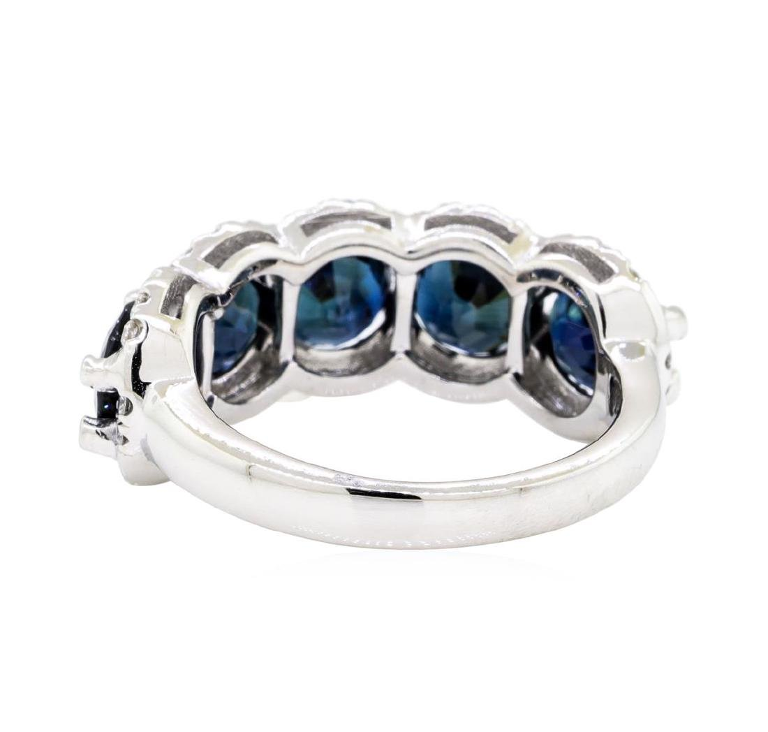 14KT White Gold 5.16 ctw Sapphire and Diamond Ring - 3