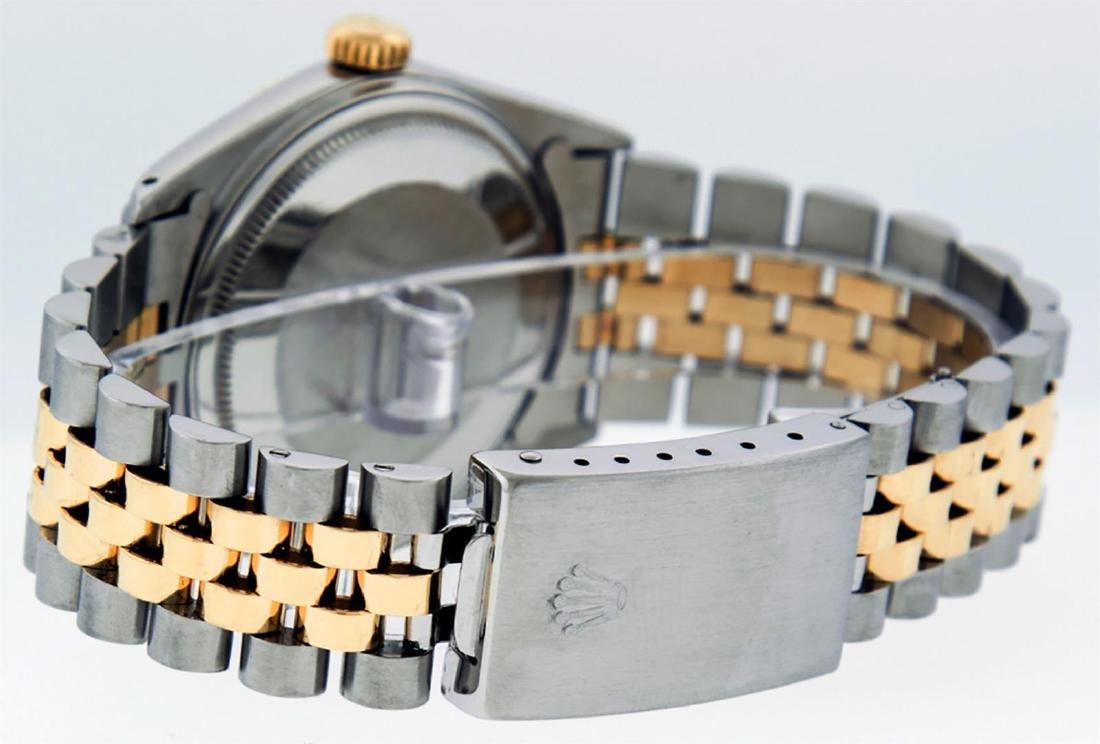 Rolex Mens Two Tone 14K Silver Diamond 36MM Datejust - 6