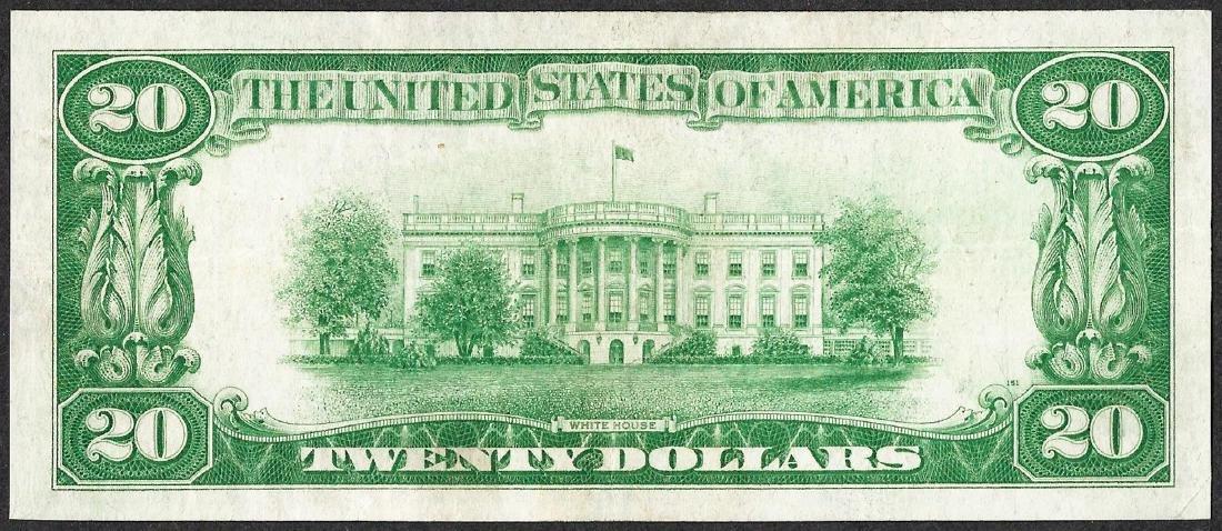 1928 $20 Gold Certificate Note - 2