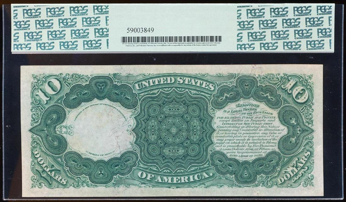 NONE FINER 1880 $10 Jackass Legal Tender Note Fr.111 - 2