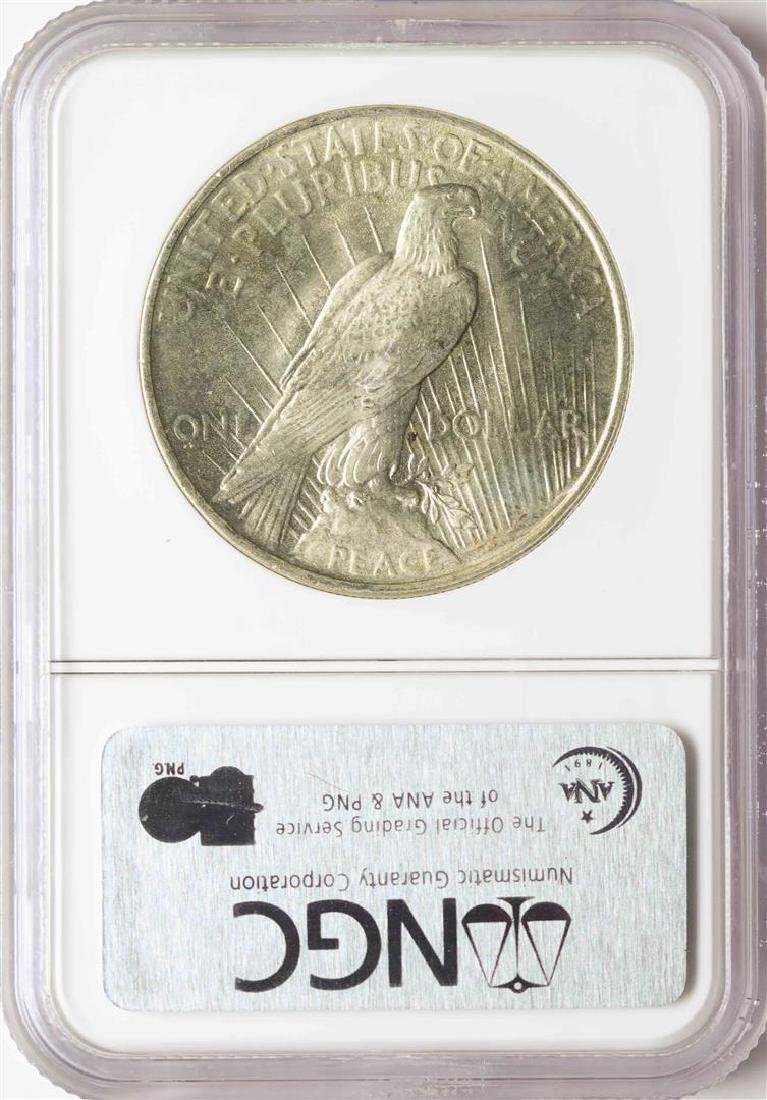 1923 $1 Peace Silver Dollar Coin NGC MS65 - 2