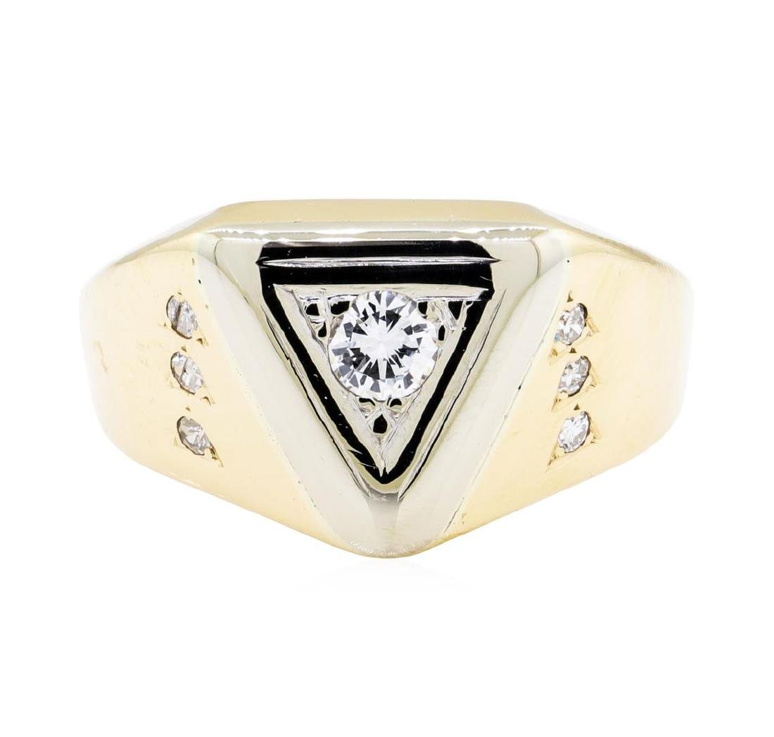 14KT Yellow Gold 0.30 ctw Diamond Ring - 2