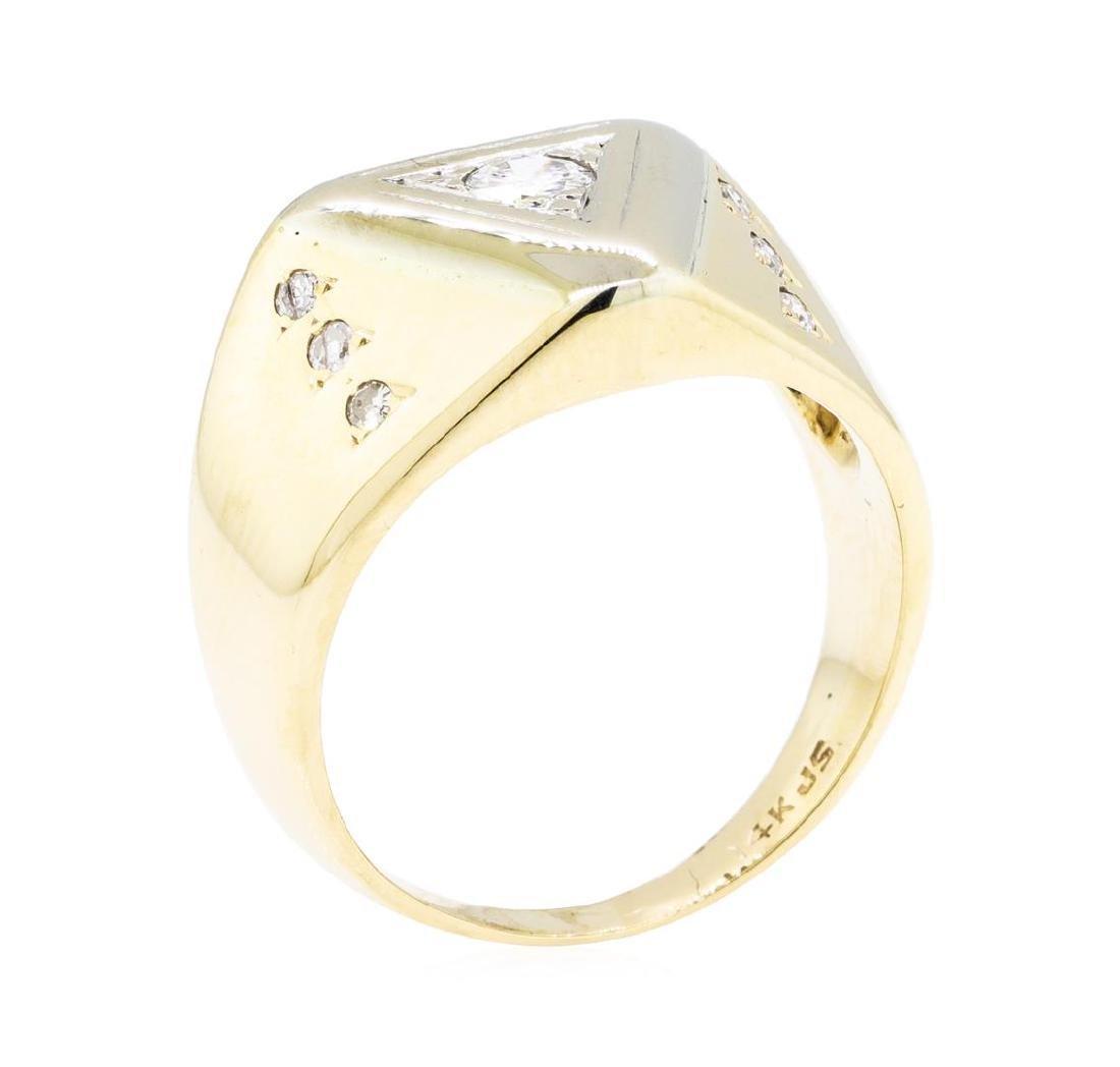 14KT Yellow Gold 0.30 ctw Diamond Ring - 4