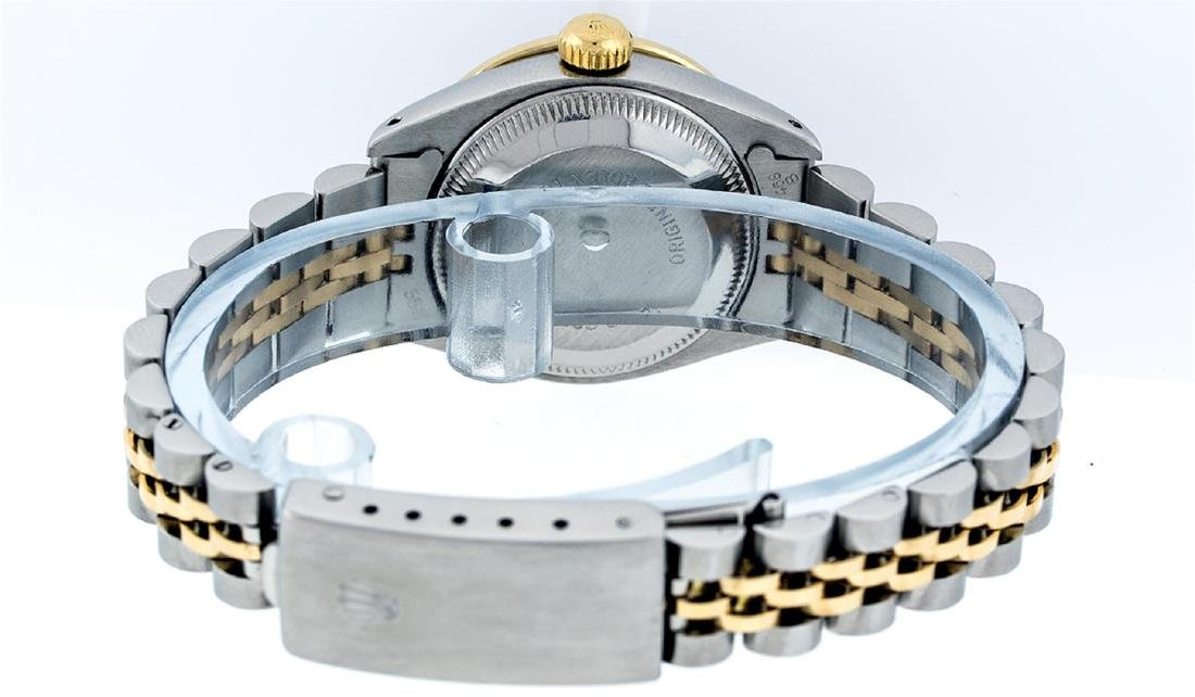 Rolex Ladies Two Tone Blue Vignette Diamond & Sapphire - 5