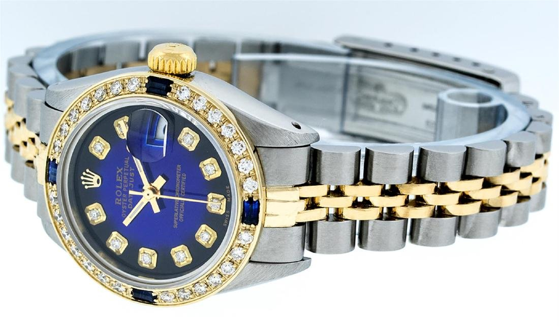 Rolex Ladies Two Tone Blue Vignette Diamond & Sapphire - 8