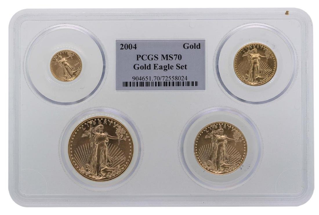 2004 American Gold Eagle (4) Coin Set PCGS MS70