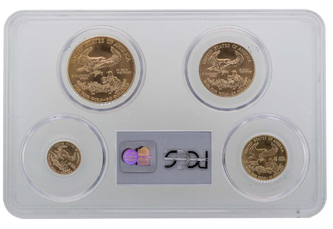 2004 American Gold Eagle (4) Coin Set PCGS MS70 - 2