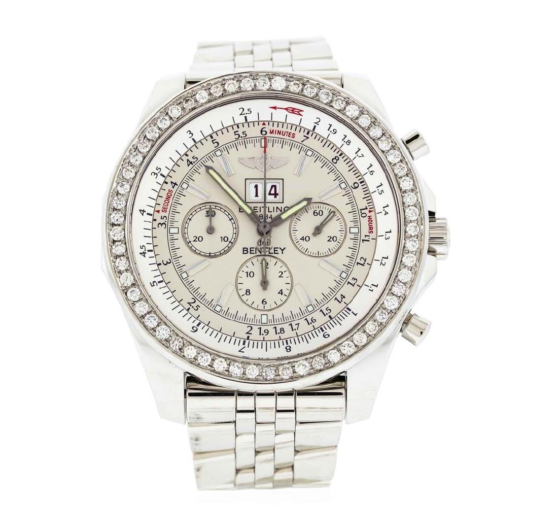 Breitling Bentley Stainless Steel 2.20 ctw Diamond
