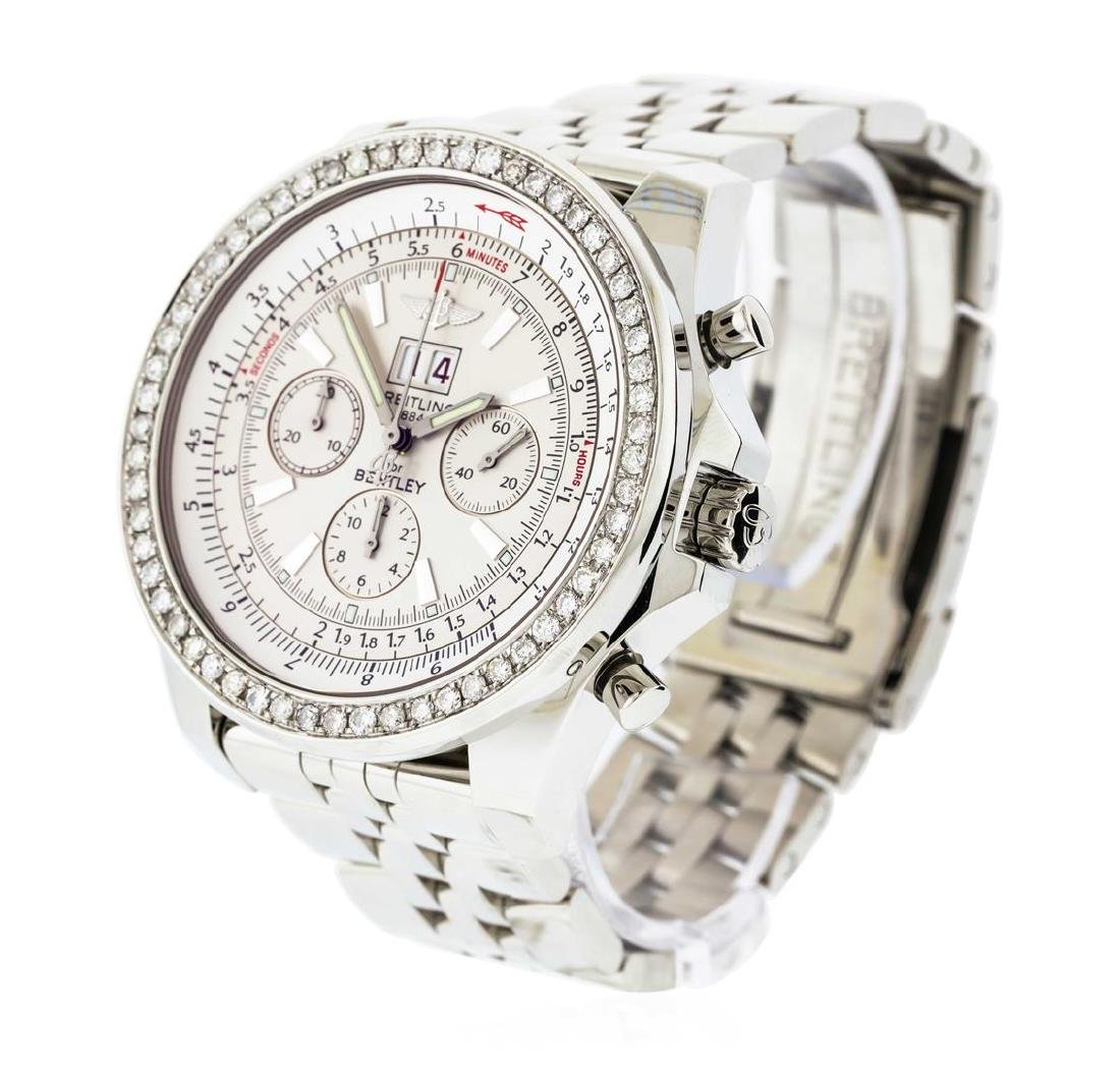 Breitling Bentley Stainless Steel 2.20 ctw Diamond - 2