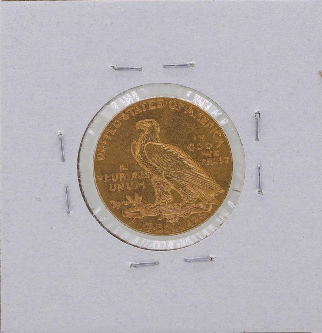 1908 $5 Indian Head Half Eagle Gold Coin - 2
